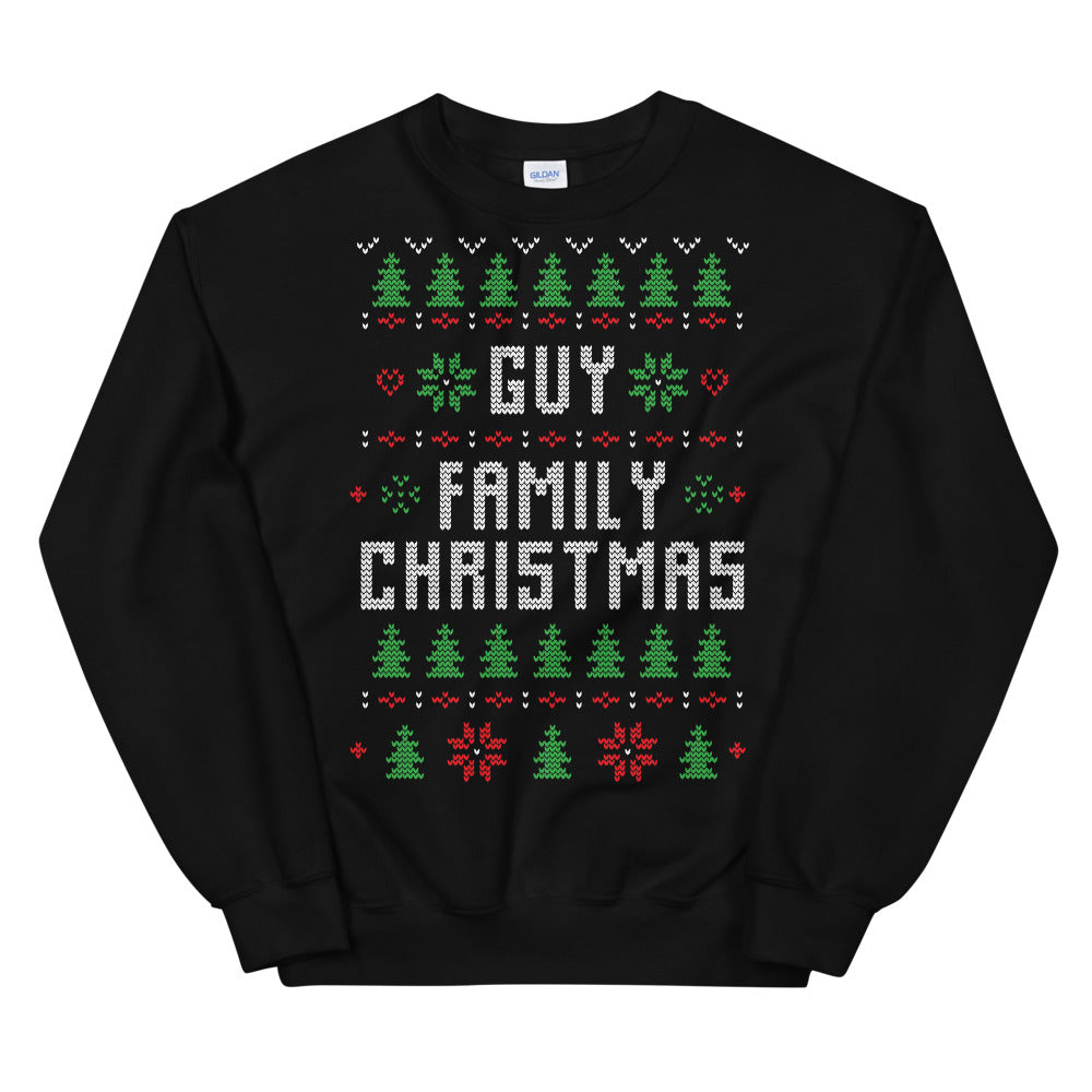 Guy Family Christmas Ugly Sweater Design Unisex Sweatshirt