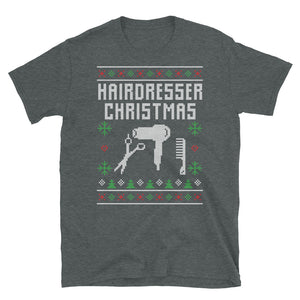 Hairdreser Christmas Ugly Sweater Design Short-Sleeve Unisex T-Shirt