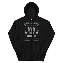 A Girl Has No Ugly Sweater For Christmas Unisex Hoodie