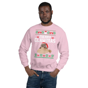 Merry Clawman Santa Otter Ugly Sweater Party Unisex Sweatshirt
