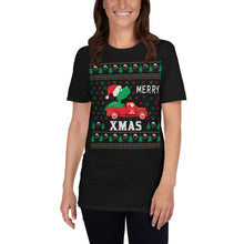 Christmas Tree On Truck Ugly Sweater Party Short-Sleeve Unisex T-Shirt