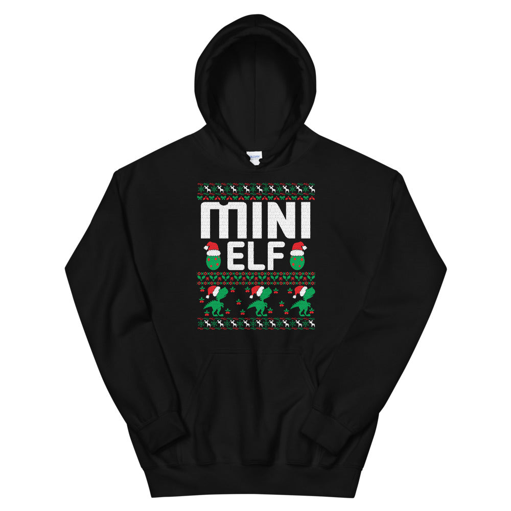 Mini Elf Christmas Ugly Sweater Party Unisex Hoodie