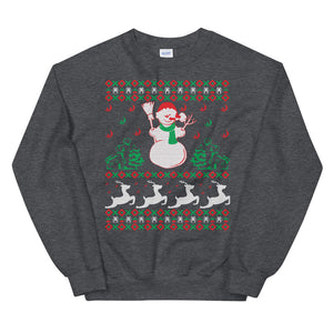 Snowman Ugly Sweater Party Unisex Sweatshirt