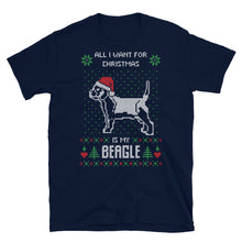 All I Want For Christmas Is My Corgie Christmas Ugly Sweater Design Short-Sleeve Unisex T-Shirt