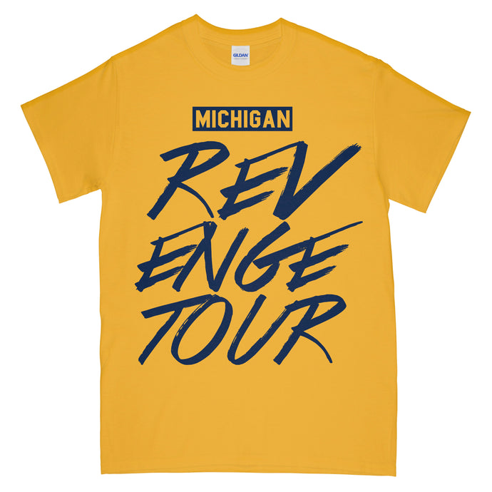 Michigan Revenge Tour T Shirt Yellow Gold