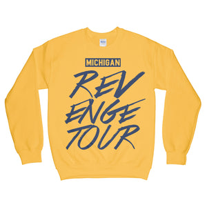 Michigan Revenge Tour Sweatshirt Yellow Gold