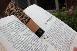 Bookmark - Tribal Mirrored Waves