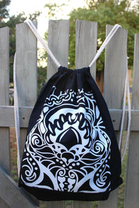 Drawstring Backpack - Patterned Bird