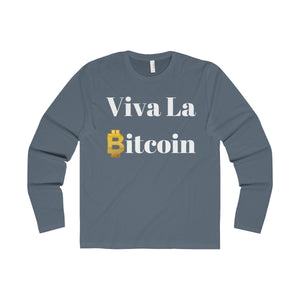 Viva la Bitcoin Men's Premium Long Sleeve Crew
