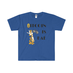 Bitcoin is Bae Softstyle® Adult T-Shirt