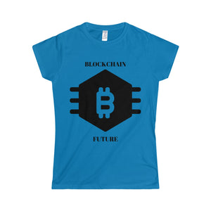 Blockchain Future Sexy Softstyle Women's T-Shirt - bitcointweaker