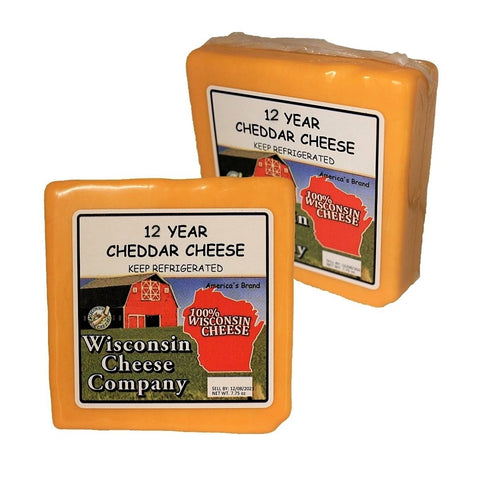 "Cheddar ""12 Year Aged"" Cheese Block (2 Packs)"