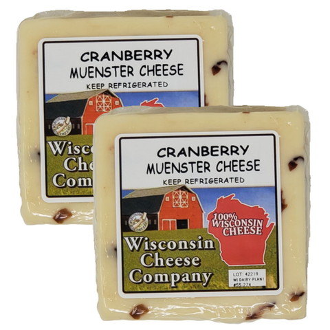 Cranberry Muenster Cheese Blocks (2 Pack)