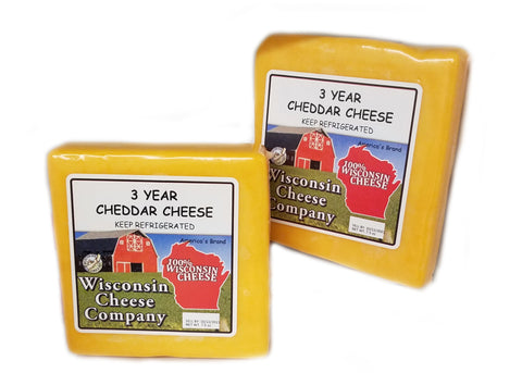 "Cheddar ""3 Year Aged"" Cheese Blocks (2 Packs)"