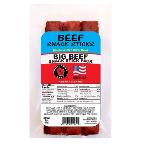 "Big Sausage Snack Stick Pack ""Beef"" (12 Pack)"