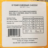 "Cheddar ""8 Year Aged"" Cheese Blocks (2 Packs)"