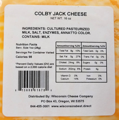 7.75oz. Colby Jack Cheese Blocks 2ct