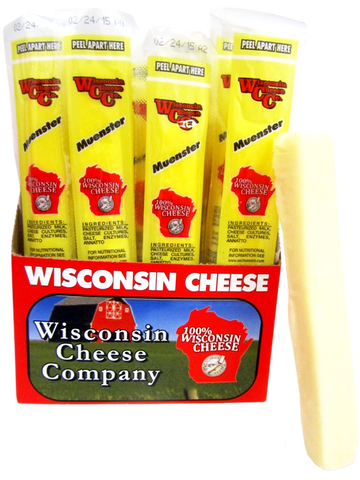 1oz. Muenster Cheddar Cheese Snack Sticks 24ct
