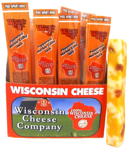 1oz. Pepperoni Cheddar Cheese Snack Sticks 24ct