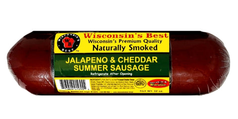 12oz. Jalapeno & Cheddar Naturally Smoked Summer Sausage