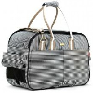 Black and White Striped Pet Carrier Bag XL | Dogs and the City