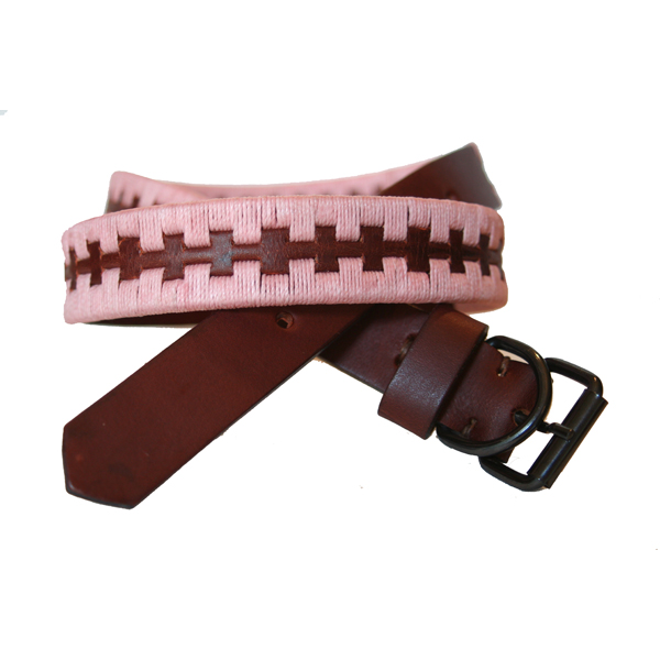 Argentine Organic Leather Collar - Pink | Dogs and the City