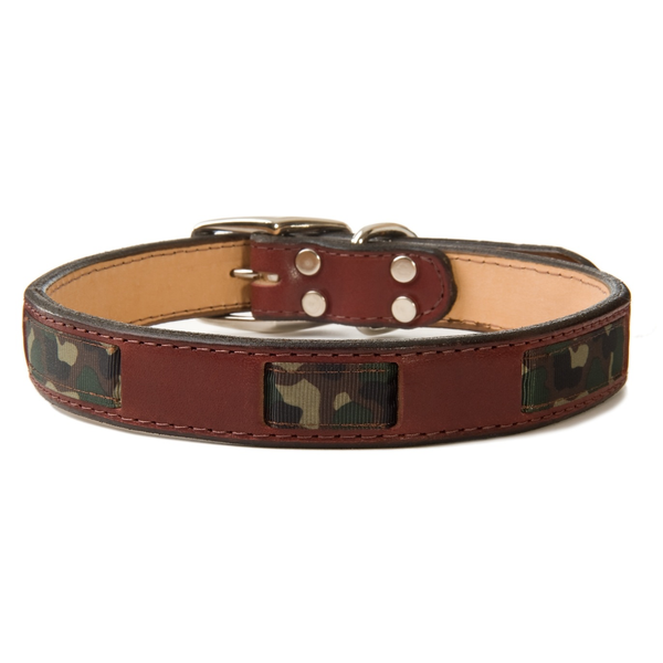 Camo Leather Collar | Dogs and the City