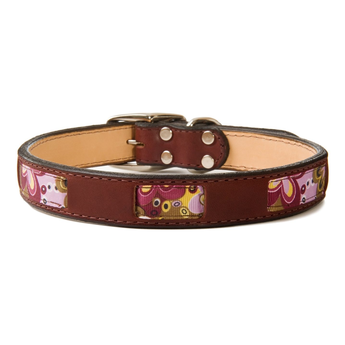 Berry Hippy Chic Leather Collar | Dogs and the City