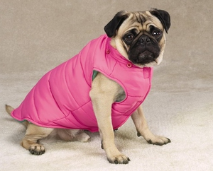 Reversible Puffy Vest | Dogs and the City