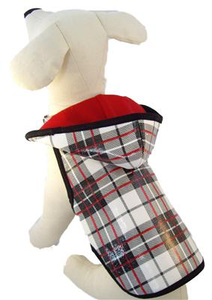 Black & Red Plaid Raincoat | Dogs and the City