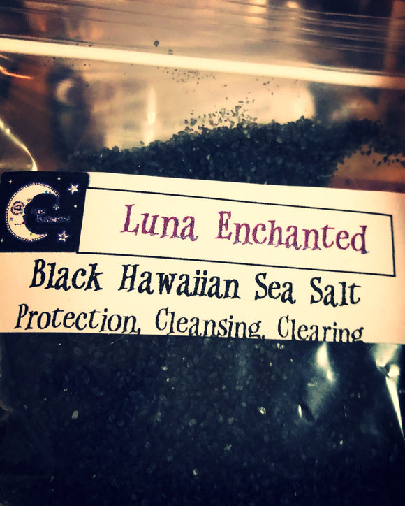 Black Hawaiian Lava Sea Salt