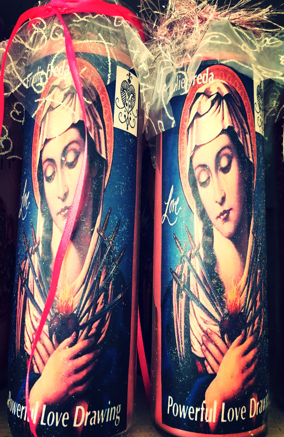 Erzulie Freda Powerful Love Drawing Novena Spell Candle