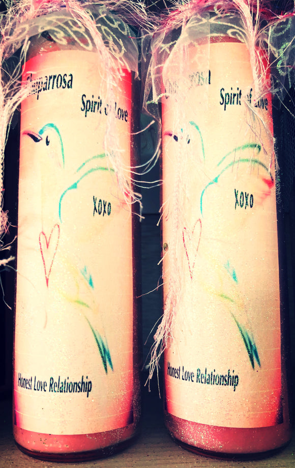 Chuparrosa/ Hummingbird Spirit of Love/ Honest Love Relationship Novena Spell Candle