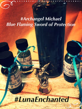 Load image into Gallery viewer, Archangel Michael Blue Flaming Sword of Protection