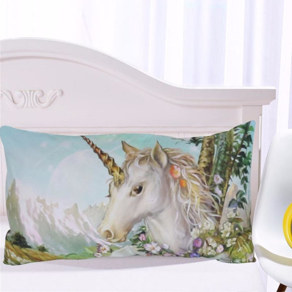 3D Unicorn Pillowcase Romantic Watercolor Print Pillow Case
