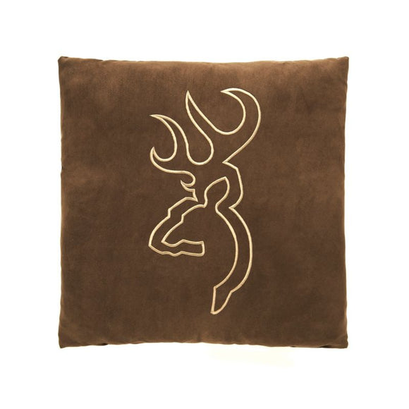 Browning Suede Square Pillow Brown No Flange