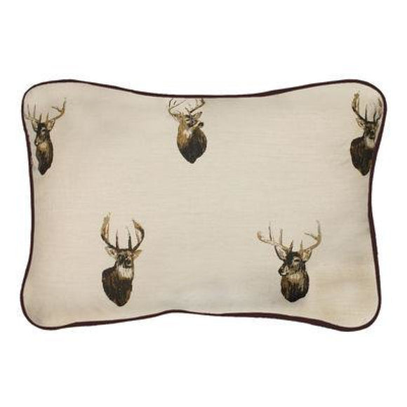 Browning White Tails Oblong Pillow