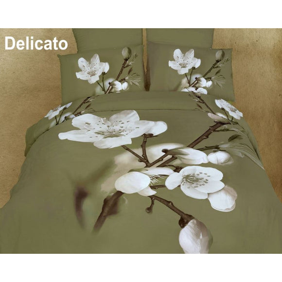 Delicato Queen/king Luxury Modern Floral Bedding Duvet Cover Set