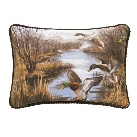 Duck Approach Oblong Lumbar Pillow
