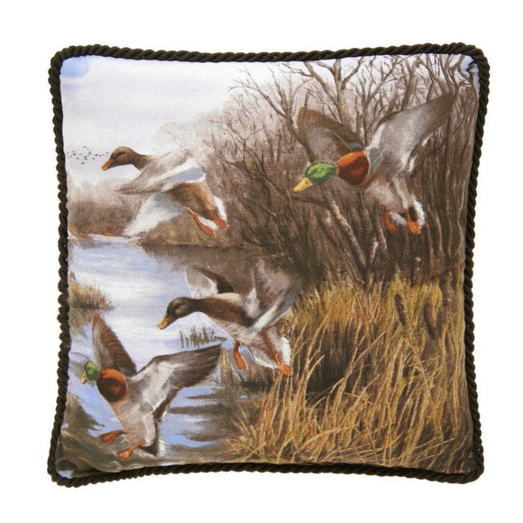 Duck Approach Throw Pillow -Corded