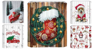 Christmas Shower Curtain Collection