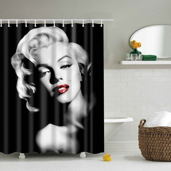Marilyn Monroe Shower Curtain Bathroom Decor Idea | GoJeek