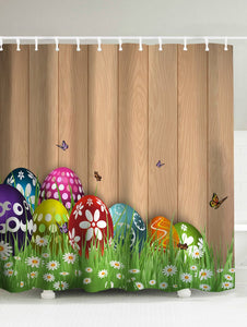 Happy Easter Colorful Eggs Shower Curtain | GoJeek