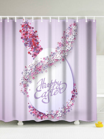 Easter Flora Rabbits Ears with Eggs Shower Curtain | GoJeek