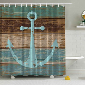 Nautical Anchor Rustic Deck Shower Curtain | GoJeek