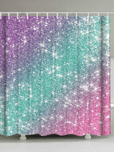 Galaxy Ombre Shimmer Shower Curtain | GoJeek