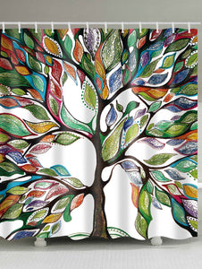 3D Colorful Oil Painting Tree of Life Shower Curtain | GoJeek