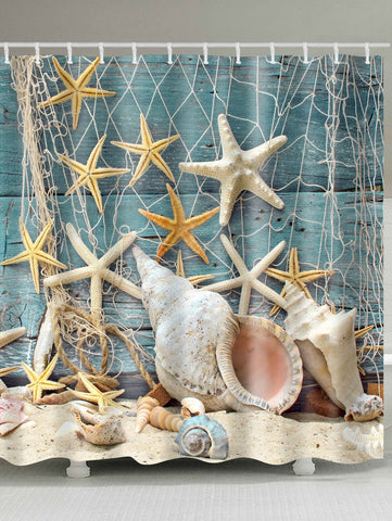Starfish e Shell Doccia Tenda Ponte Coastal Bath Decor GoJeek