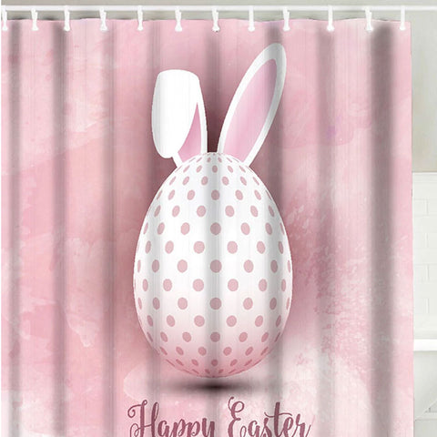 2018 Happy Easter Rabbit Egg Shower Curtain