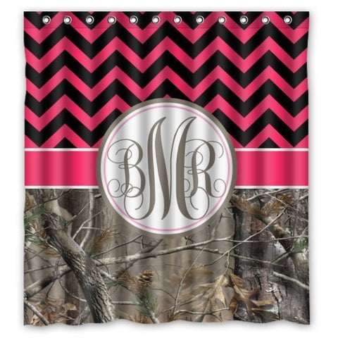 BMR My Bathroom Symbol Monogrammed Shower Curtain | GoJeek